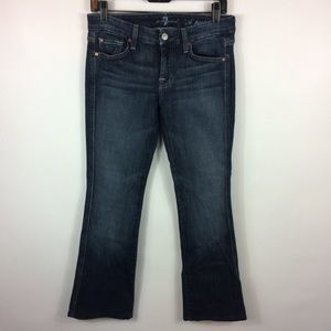 7 For All Mankind A Pocket Pink Flare Jean Size 27